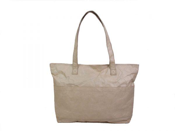 sac_cabas_shopping_beige_ecologique_naturel_papier_kraft_recyclé_fashion_auctor.fr