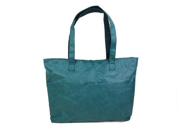 sac_cabas_shopping_bleu_canard_papier_kraft_ecologique_naturel_recyclé_auctor.fr